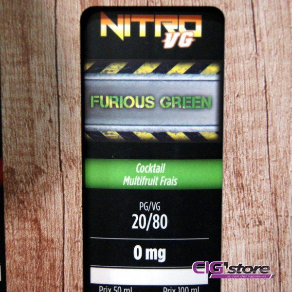Refill - FURIOUS GREEN de Nitro VG